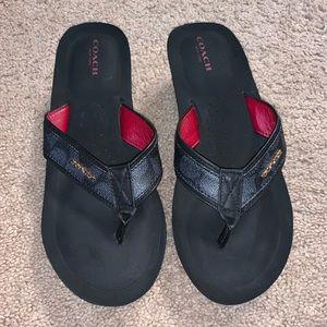 Women's Coach size 9 wedge sandals